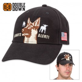 Double Down Always Alert Sheepdog Cap Black Twill
