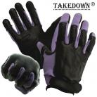 Takedown Large Purple Full Finger Sap Gloves Steel Shot Knuckles
