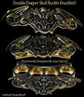 gold double dragon belt buckle 13gd