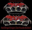 red winged dragon claw belt buckle 14sl