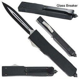 Tarantula Tactical Black D/A OTF Automatic Knife